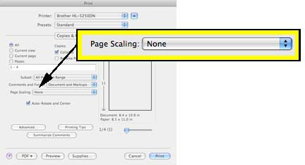 Page Scaling