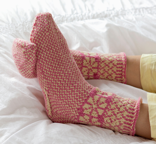 Knitting Scandinavian Slippers and Socks by Laura Farson - Sheep to ...