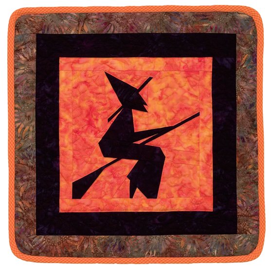 Paper-pieced witch quilt from Spellbinding Quilts