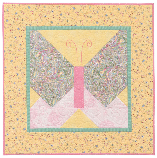 Butterfly quilt from Lickety-Split Quilts for Little Ones