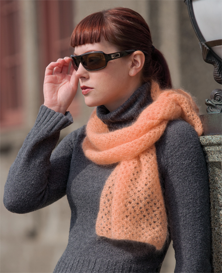 Knitted lace scarf from Knits from the North Sea