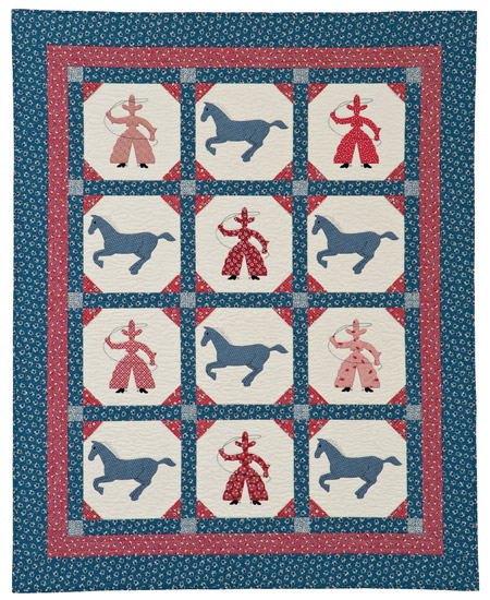 Cowboy Days quilt by Nancy Mahoney
