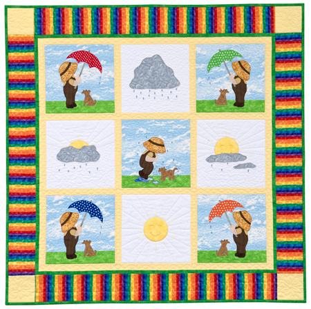 Scottie Dog Scrap Baby Quilt Pattern - FreePatterns.com