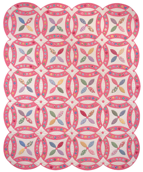 Jeweled Wedding Ring quilt by Kay Connors and Karen Earlywine