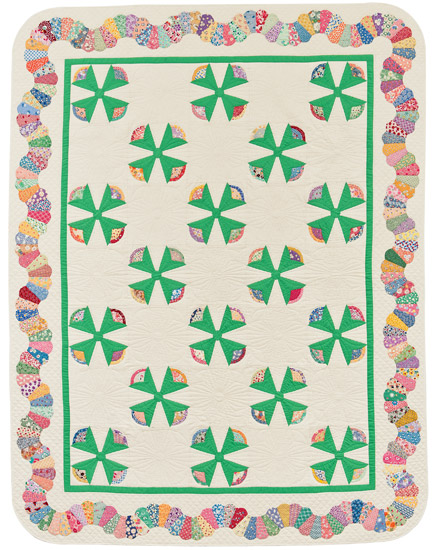 Stroll around the Garden quilt by Kay Connors and Karen Earlywine