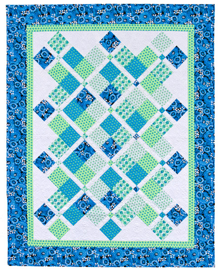 'Crosses the Line' quilt from 'Take Five'