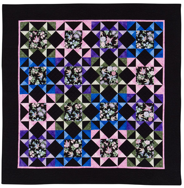 Midnight Fairy Lights quilt by Karen Sievert