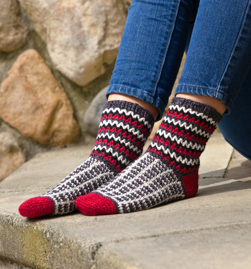 From More Crocheted Socks