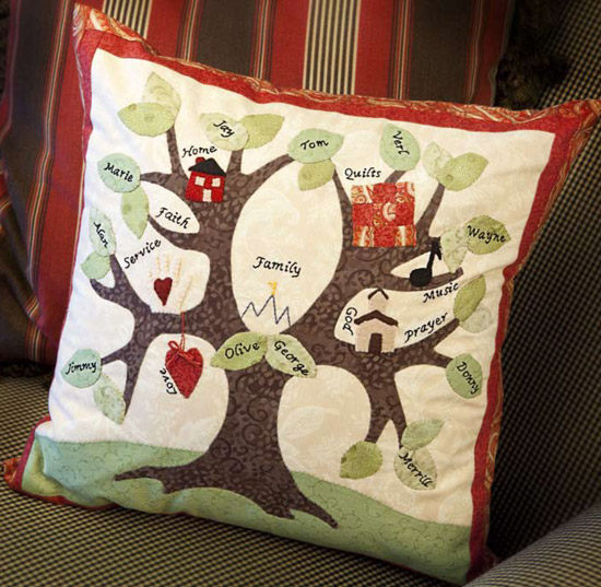 Family Tree Pillow from Heartfelt Giving