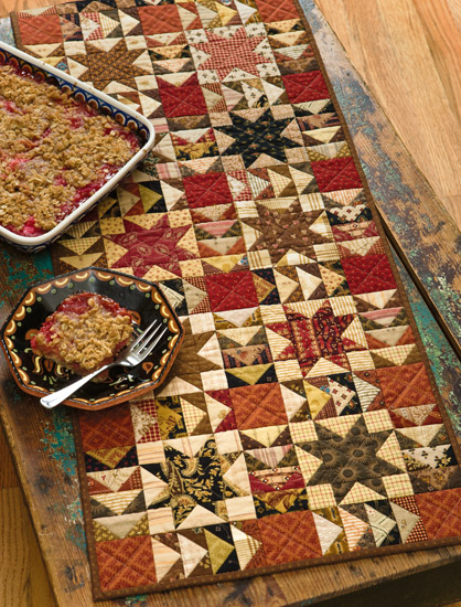 Rhubarb Crisp Runner from Skinny Quilts and Table Runners II