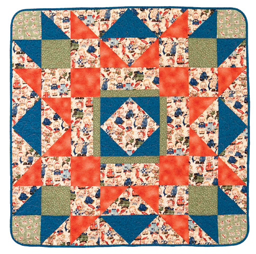 Free one-block quilt from Sew One and You're Done