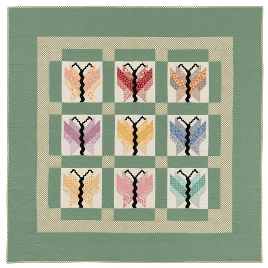 Butterflies quilt by Kay Connors and Karen Earlywine