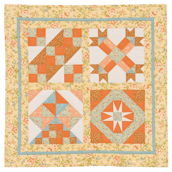 Quilted Devotions 4-block wall quilt