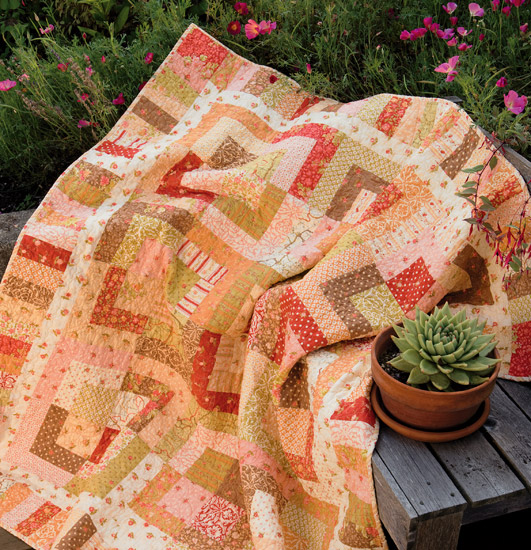 Layer-Cake McGuffey quilt from Schnibbles Times Two