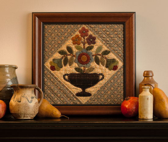 Framed quilt block from Simple Graces