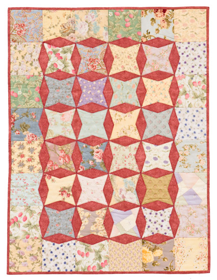 Charming Squares and Diamonds quilt