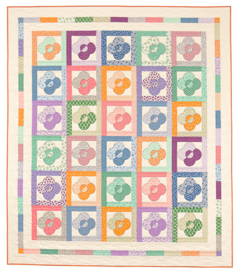 Rose and Trellis quilt from Treasures from the '30s