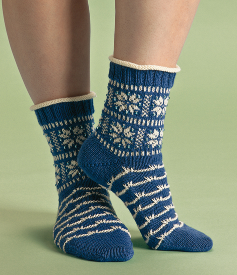 Winterscape socks from Terrific Toe-Up Socks