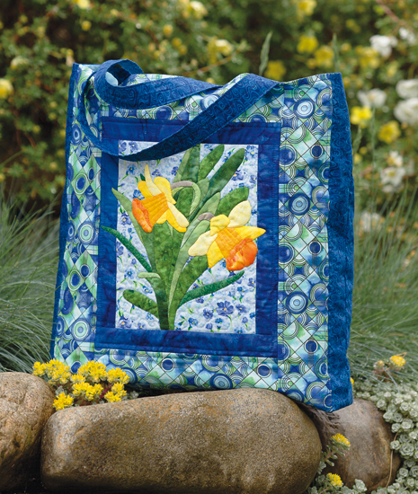 Daffodil tote bag from Nature's Beauty in Applique