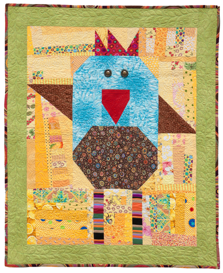 Freddy Feathers Baby Chick quilt