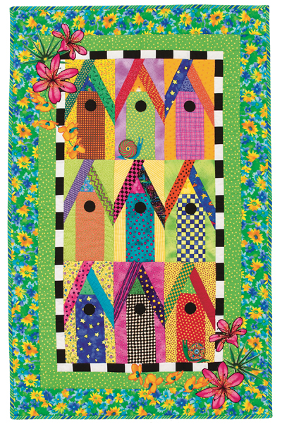 Birdhouses of Key West quilt