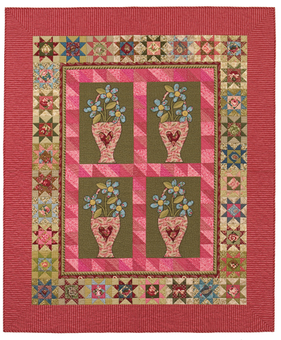 Double Pink Blooms quilt