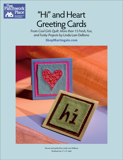 Martingale hi and heart greeting cards epattern m4hsunfo
