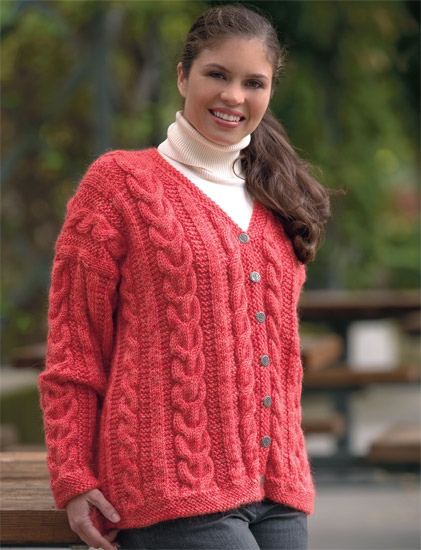 knitted cable cardigan from Cable Confidence