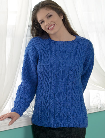 knitted cable sweater from Cable Confidence
