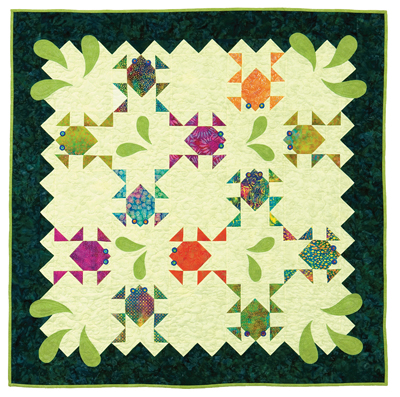 Splash Dance quilt by Cathy Wierzbicki