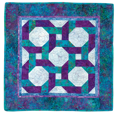 Snowball quilt pattern with Bright Hopes blocks from the book Snowball Quilts