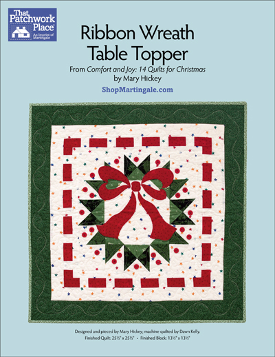 Martingale Ribbon Wreath Table Topper Epattern