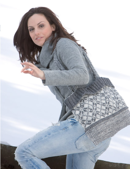 Messenger Bag from Knitting the Chill Away