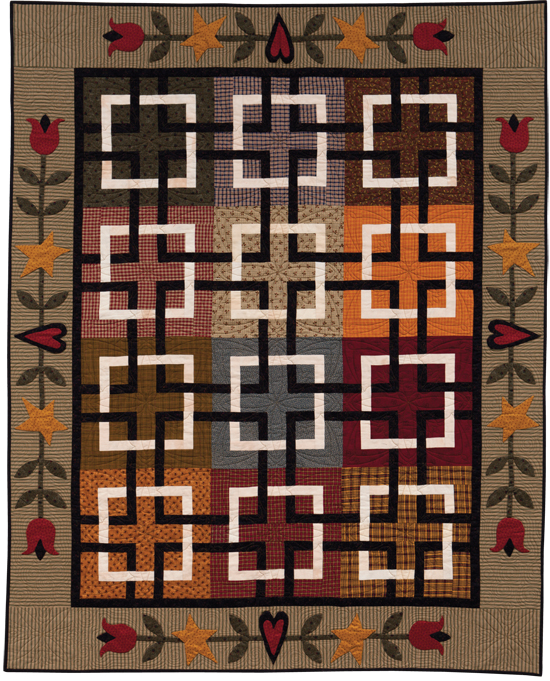 from At Home with Country Quilts