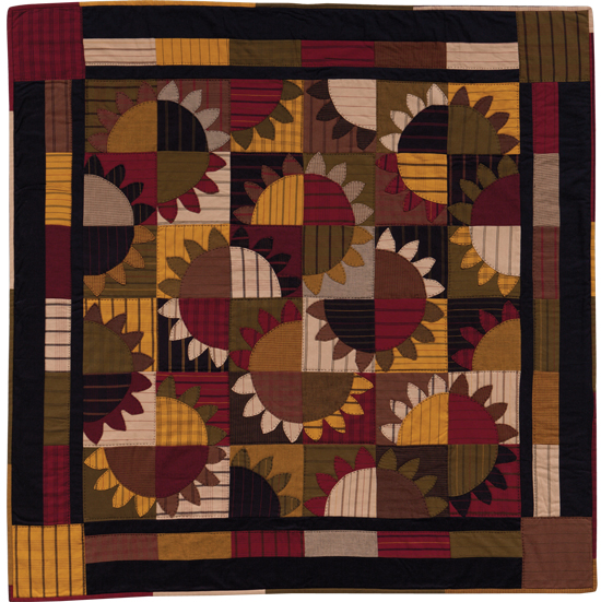 """Sunflower Explosion"" from At Home with Country Quilts"