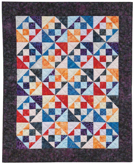 """Ray of Light"" from Quilting with Fat Quarters"
