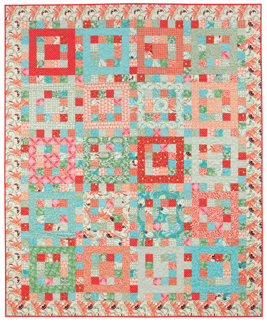 """Sherbet Punch"" from Quilting with Fat Quarters"