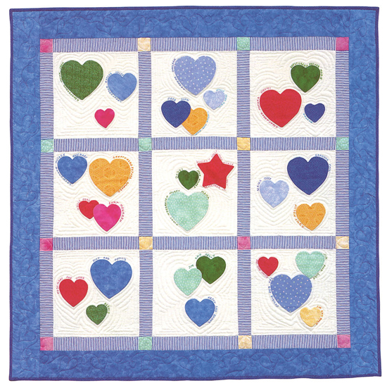 Family Hearts quilt