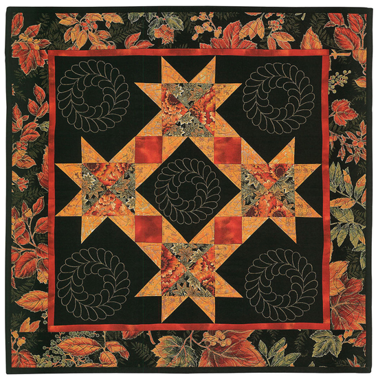 Golden Autumn Wreath quilt