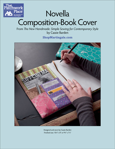 Composition Book Cover Pattern ~ Martingale novella composition book cover epattern