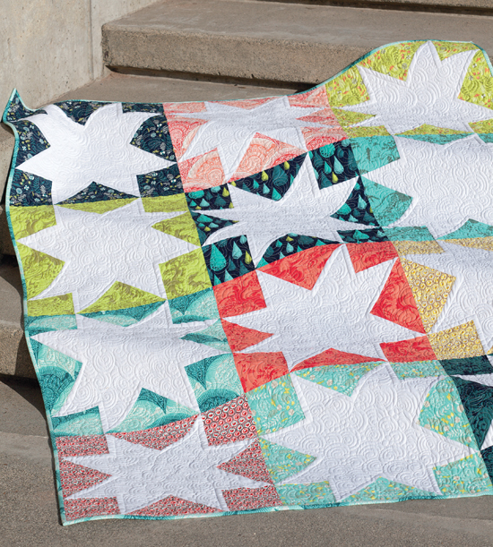 White Stars quilt from Skip the Borders