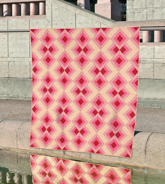 Raspberry Dessert quilt from Skip the Borders