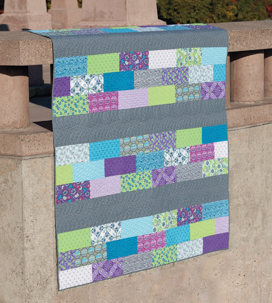 Rows of Bricks quilt