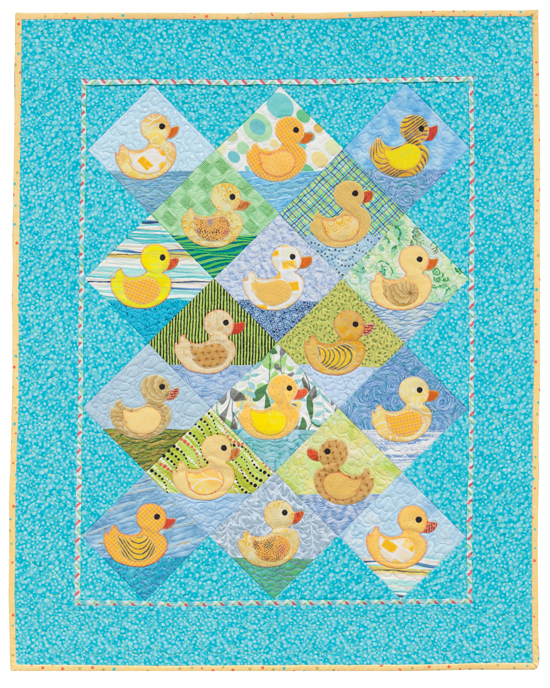 Rubber Duckie quilt pattern