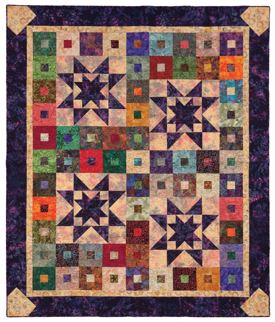 Purple Daze quilt from Quilt Batik!