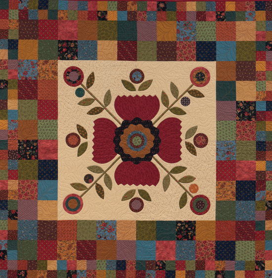 Four Patch Potpourri quilt