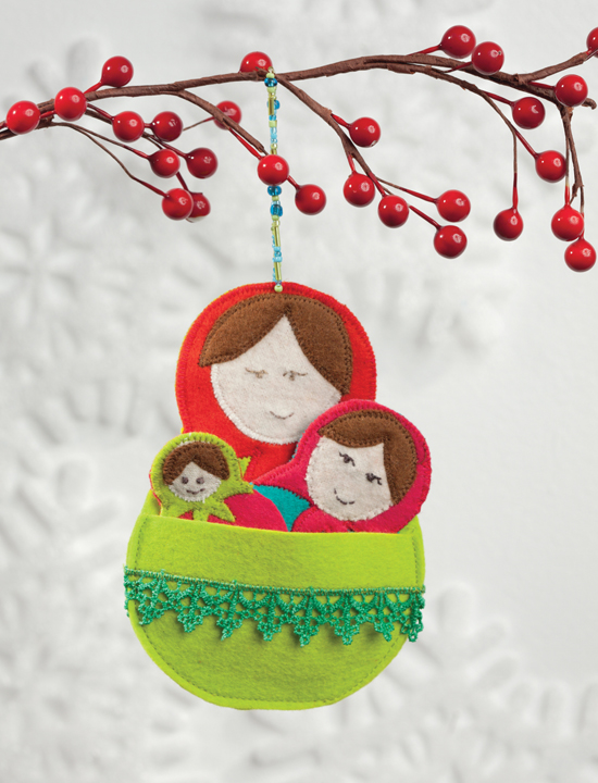 Matryoshka Love Christmas ornament