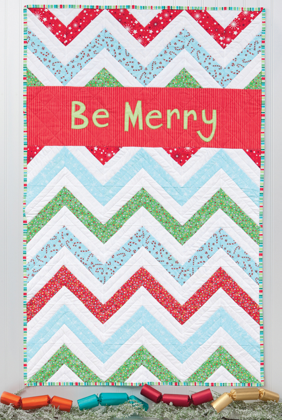 """Be Merry"" Christmas quilt from Sew Merry and Bright"