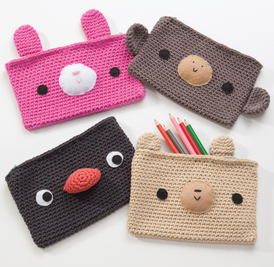 Crocheted Pencil Cases