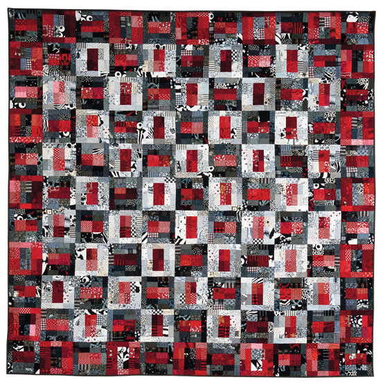Black and White and Red All Over quilt